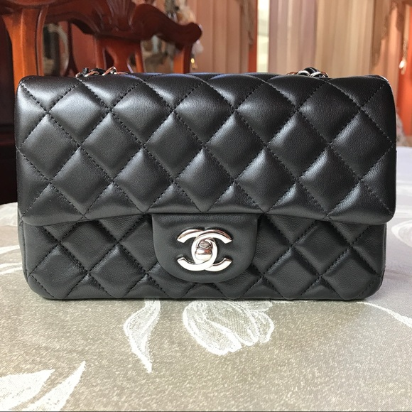b31c2feb8d41 CHANEL Handbags - CHANEL Mini Flap - Lambskin w Silver HDW